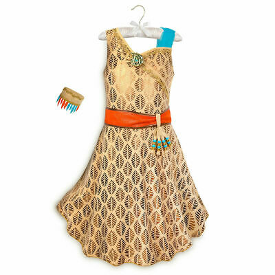 Native Dress Up (NWT Disney Store POCAHONTAS Native American Princess Dress Up Costume Sz)