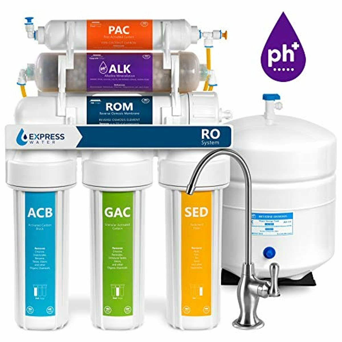 Express Water Reverse Osmosis Alkaline Water Filtration Syst