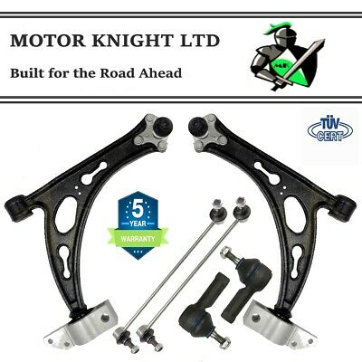 VW GOLF MK5 05-09 FRONT SUSPENSION CONTROL ARM 'CAST' WISHBONES, LINKS TRACK ROD