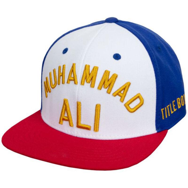 Title Boxing Muhammad Ali 2.0 Flat Bill Fit Cap - White/Red/Blue