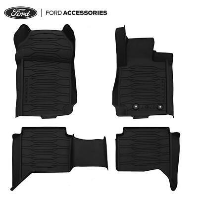 Car Parts - Genuine Ford Ranger Front & Rear Rubber Floor Mats Double Cab 2011- 2208156