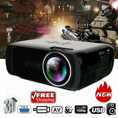 7000 Lumen Full HD 1080P LED 3D LCD VGA HDMI TV Home Theater Projector Cinema HM