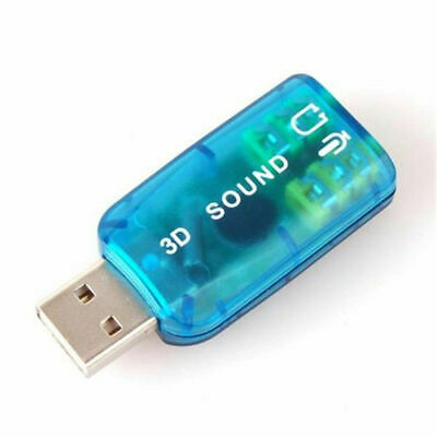 USB External Sound Card 3D 5.1 Audio Adapter for PC