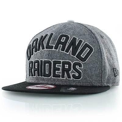 Oakland Raiders 9Fifty New Era NFL Emphasized Snapback Adjustable Capc S-M
