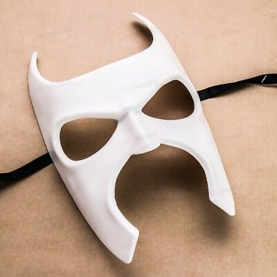 White DIY Blank Mardi Gras Halloween Batman Mask Masquerade Ball Party Costume (Mardi Gras Ball Kostüme)