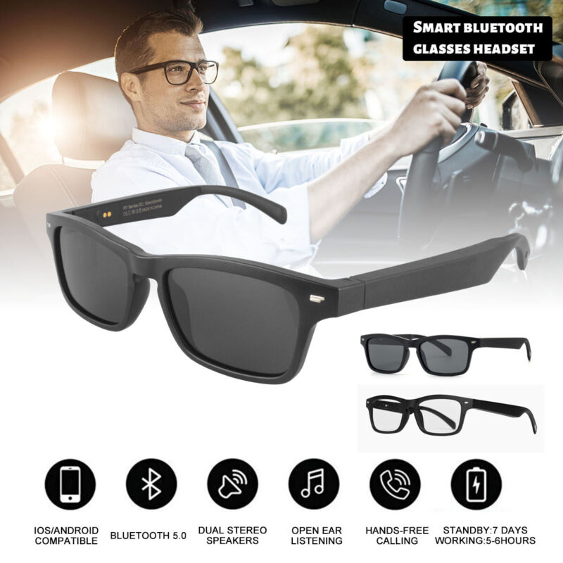 Smart Glasses Wireless Bluetooth5.0 Music Stereo Headset Audio Speaker Handsfree