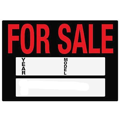 FOR SALE Sign Car/Van Caravan Display YEAR/MODEL Plastic Board A4 Size Write Own