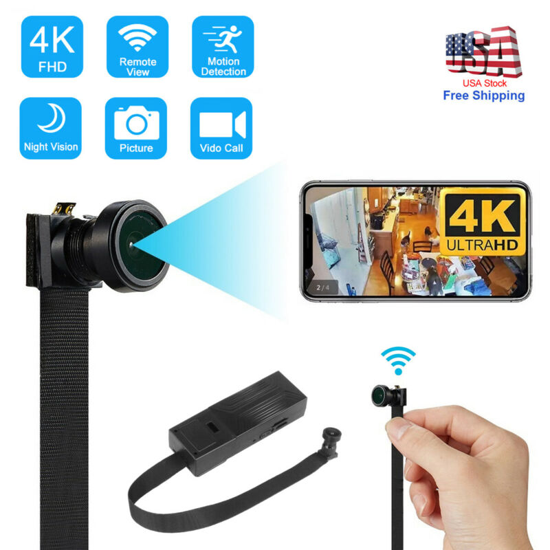 4K Mini Spy Nanny Camera Wireless Wifi IP Pinhole DIY Hidden Video DVR NVR cam