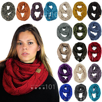 Scarf - NEW! CC Scarf Soft Chunky Warm Pullover Knit Long Loop Infinity Hood Cowl Scarf