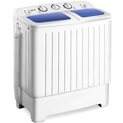 Goplus Compact Mini Compact Twin Tub 17.6lb Washing Machine Washer Spin Spinner