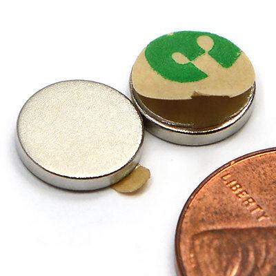 Cms Magnetics 100 Pcs Neodymium Magnet N45 10mmx1mm W3m Adhesive On N Pole