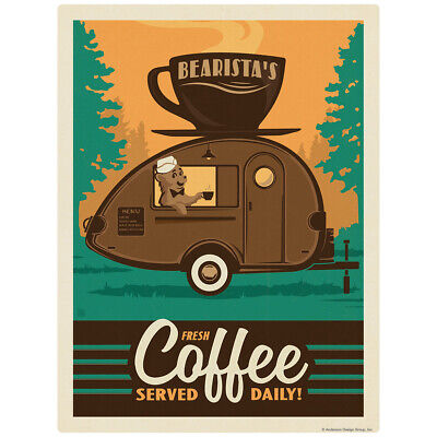 Bearistas Trailer Coffee Served Daily Decal 26 X 34 Peel And Stick Decor