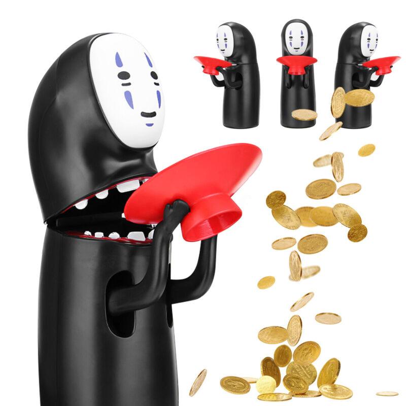 No-Face Man Coin Bank Kaonashi Hiccup Music Money Eating Piggy Bank Figure