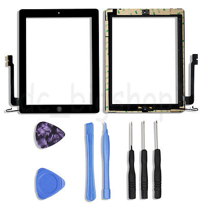 Touch Screen Digitizer + Home Button Flex Assembly for iPad 4 A1460 A1459 A1458