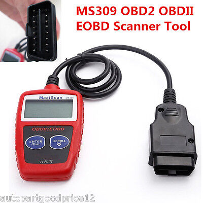 Ms309 Obd2 Obdii Eobd Scanner Car Code Reader Data Tester Scan Diagnostic Tool