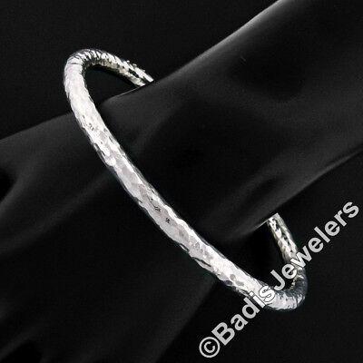 Ippolita Glamazon Sterling Silver Heavy Hammered Oval Slip-On Bangle Bracelet