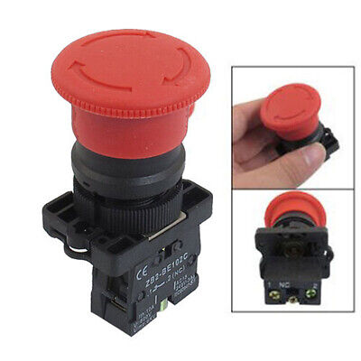 78 Large Red Mushroom Emergency Stop Push Button Switch 600v 10a Nc