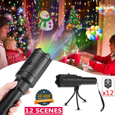 Christmas and Halloween Holiday LED Laser Light Projector Shower House Landscape