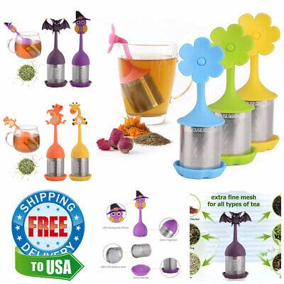 Cute Animal Tea Infuser Strainer Holder Gift Set NO LEAKS ()