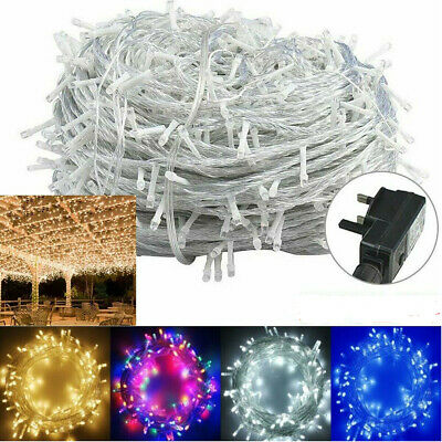 Decorative String Lights 20-1000 LED 8 Modes Fairy Twinkle RGB Xmas Home Decor ()
