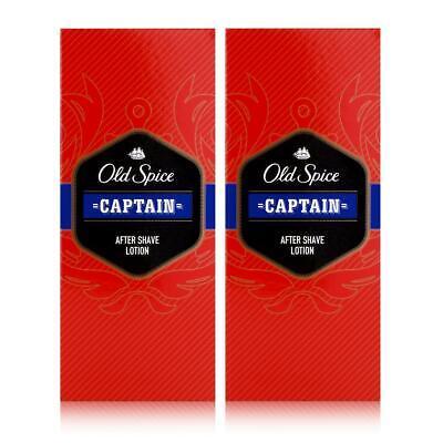 Old Spice After Shave Lotion Captain 100ml - Beruhigt und erfrischt (2er Pack)
