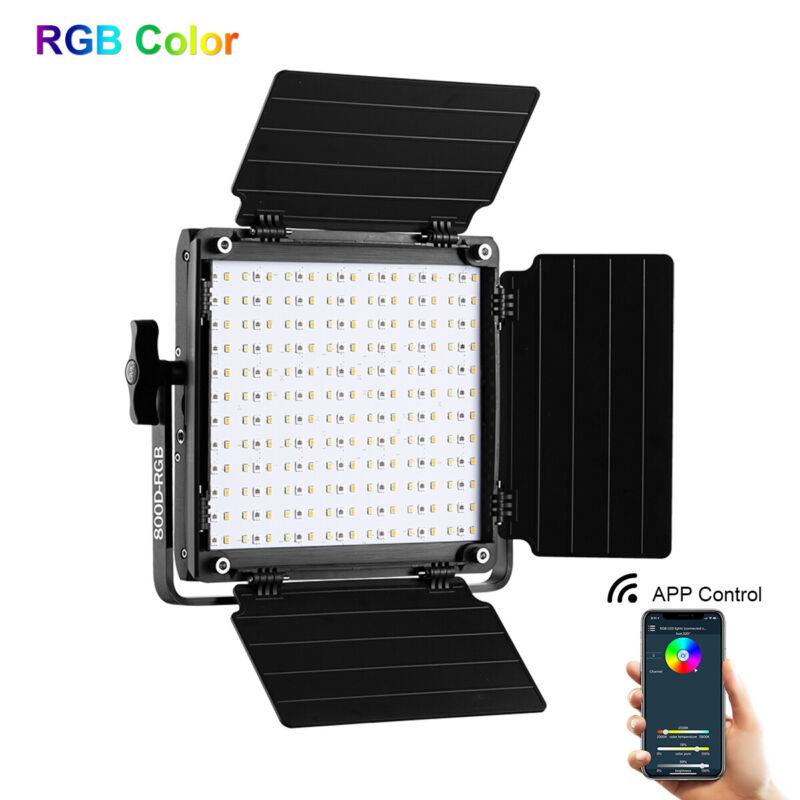 GVM 800D-RGB LED Camera Light Studio Video Photography Lighting with APP Control