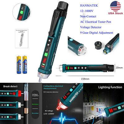 Hanmatek 121000v Non-contact Ac Electrical Tester Pen Voltage Detector 9 Gear