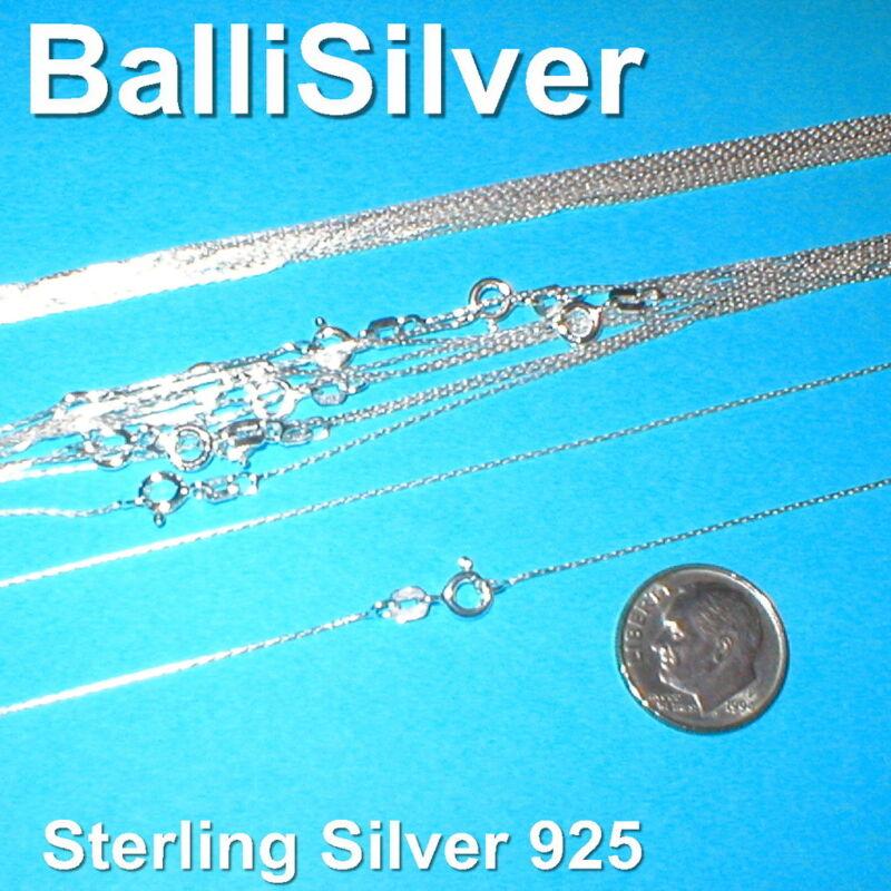 "10 pieces 16.5"" 42cm Sterling Silver 925 0.6mm Fine Chain Necklaces LOT"