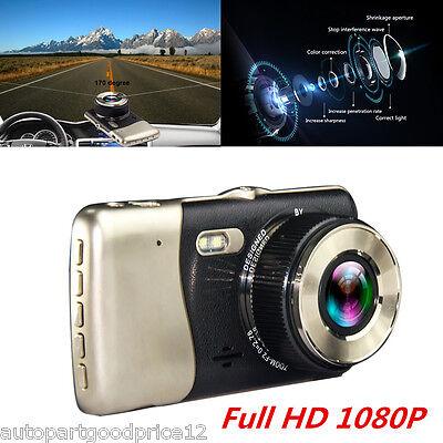 4 0 Full Hd 1080P Dual Lens Car Dash Cam Recorder Rearview Camera Night Vision