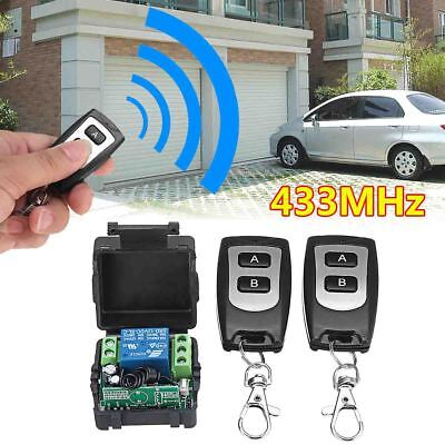 12V 10A 1 Channel Wireless Remote Control Relay Switch 2 Transmitter + Receiver