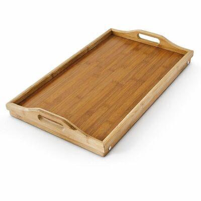HIGHLIVING ®Bambus Holz-,ServierTablett,Frühstück im Bett,klappbar,Beistelltisch