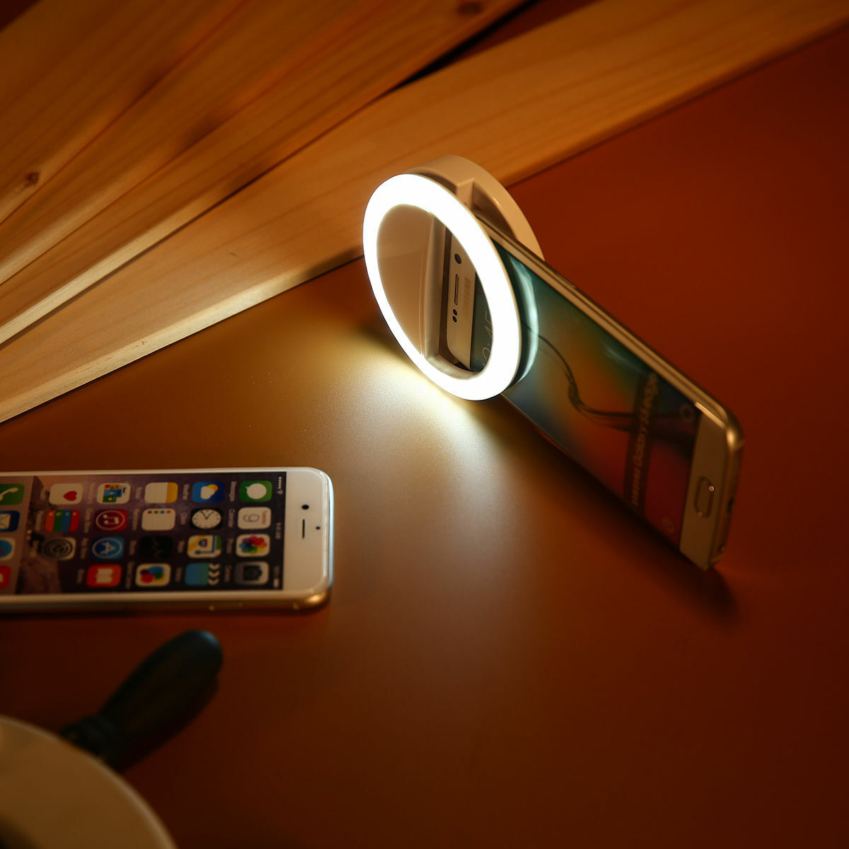 Selfie Portable LED Ring Fill Light Camera Flash Cell Phone Samsung iPhone LG Cell Phone Accessories
