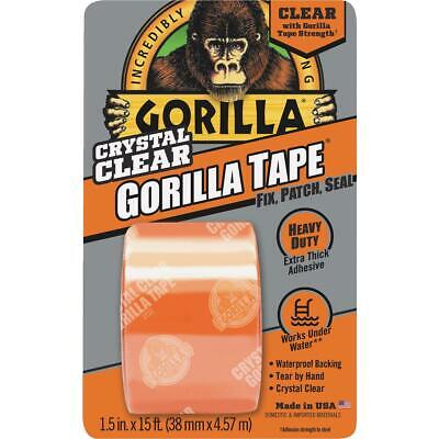 Gorilla 1-1/2 In. x 5 Yd. Crystal Clear Duct Tape, Clear 6015002  - 1 Each