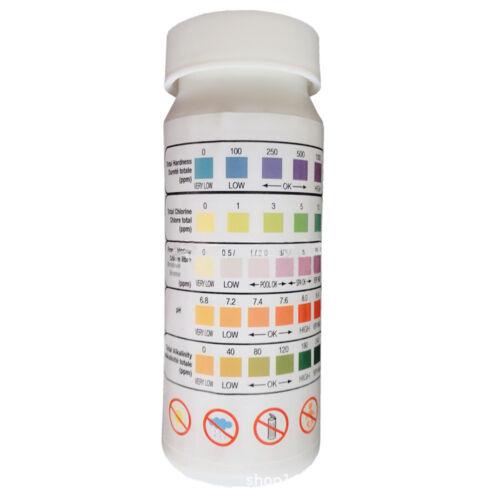 5In1 Test Strips Chlorine Bromine Alkalinity Level Swimming