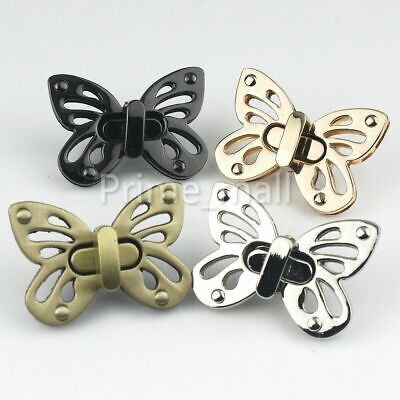 Bag Turn Lock Butterfly Snap Clasps Closure Buckles DIY Hardware -