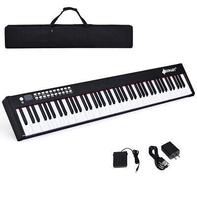 BXII 88 Key Digital Piano MIDI Keyboard w/Bluetooth &MP3 Pra