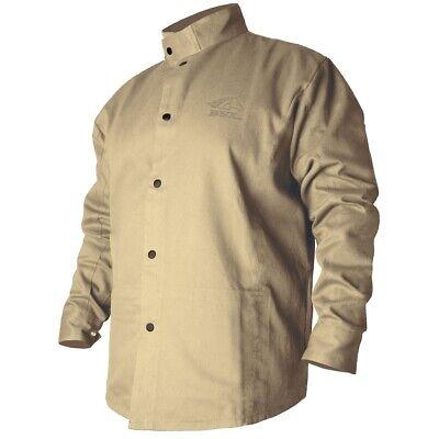 Revco Black Stallion Bsx 9oz Tan Fr Cotton Welding Jacket Medium Bxtn9c