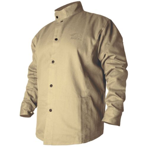 Revco Black Stallion BSX 9oz Tan FR Cotton Welding Jacket (Large) (BXTN9C)
