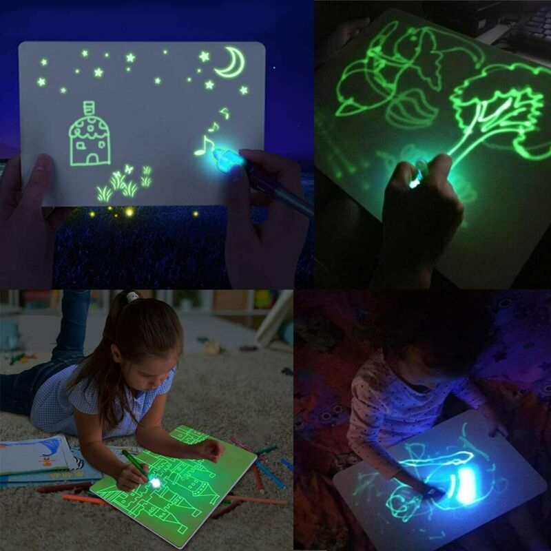 A4 Doodle Board Drawing Tablet Kid Light Drawing Pad Luminescent Board Painting