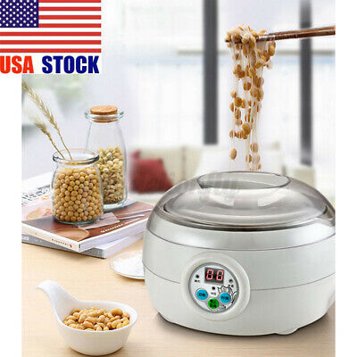 1.5L Electric Automatic Mini Yogurt DIY Tool Maker Machine Stainless Steel Liner
