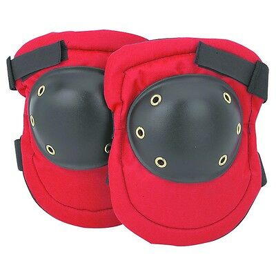 Hard Cap Knee Pads (Hard Cap Knee Pads Padded Red And Black Adjustable Fabric 1 Size )