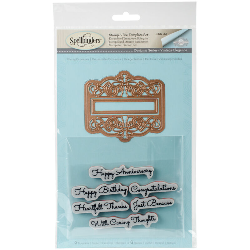 Spellbinders Stamp & Die Set-Giving Occasions