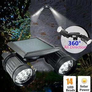 14LED Solar Power Motion PIR Sensor Light Garden Outdoor Security Spotlight Lamp
