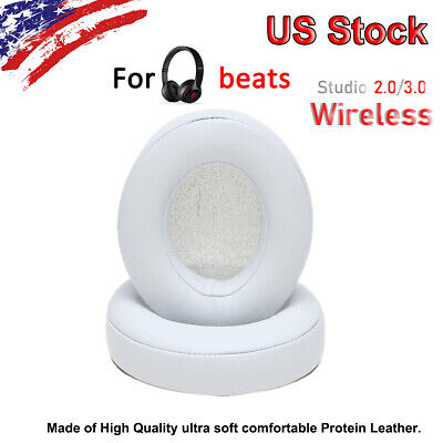 2 Replacement Ear Pads for Beats by dr dre Studio 2.0 Wireless WHITE US SALE - Dres Sale
