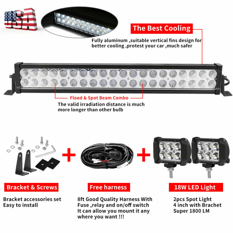 "6/"" Inch Clear Cover for Offroad LED Light Bar 7/"" 36W 12/"" 72W 108W 42/"" 50/"""