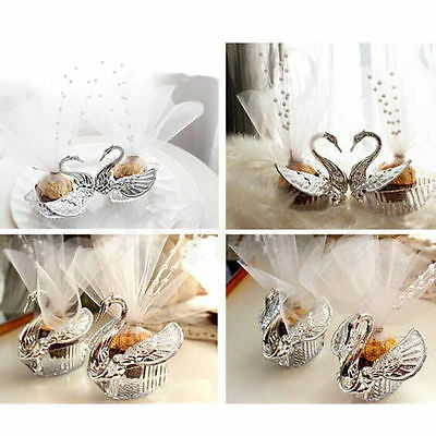 European Romantic Swan Wedding Favor Gift Box Candy Boxes Favors Celebration (Gift Box Favors)