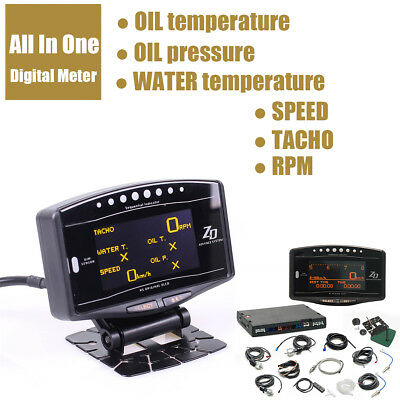 Car All In One Digital Meter speed mileage Oil temperature Oil pressure Gauge