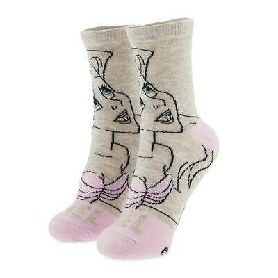 Disney Authentic Little Mermaid Princess Ariel Crew Socks for Adults One Size - Disney Princess Adults