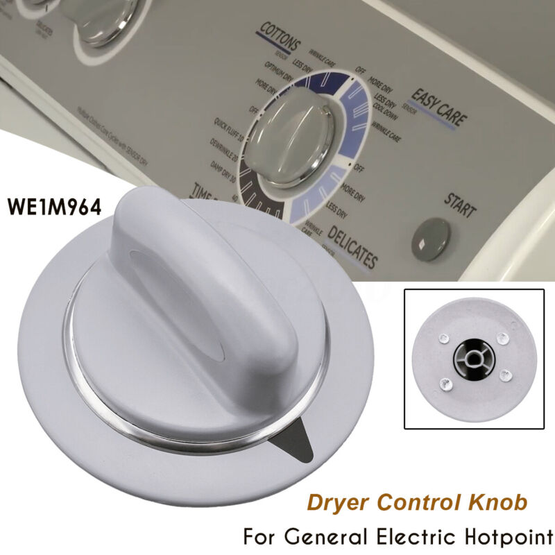 Dryer Control Knob Timer Gray For General Electric Hotpoint WE1M964 PS3487132 US