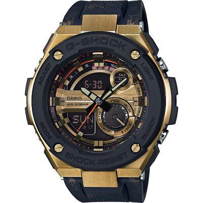 Casio G Steel Mens Gst200cp 9A Super Illuminator World Time Gold Tone Watch